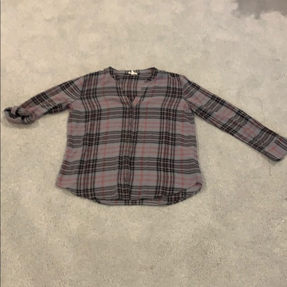 Joie Tops - Joie plaid button down shirt w/ adjus. sleeves
